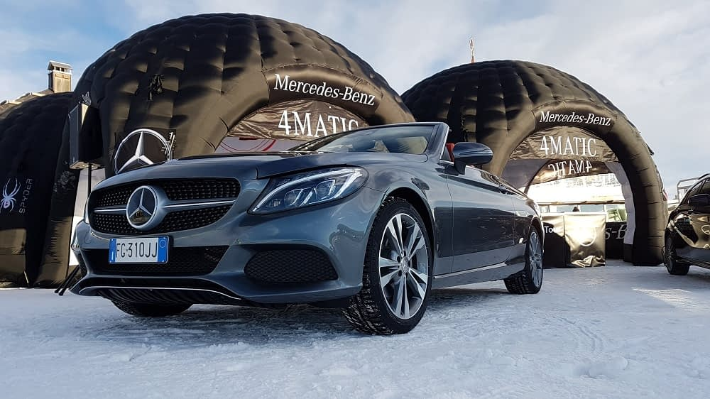 Mercedes-Benz 4MATIC Tour by Fisher al Mottolino
