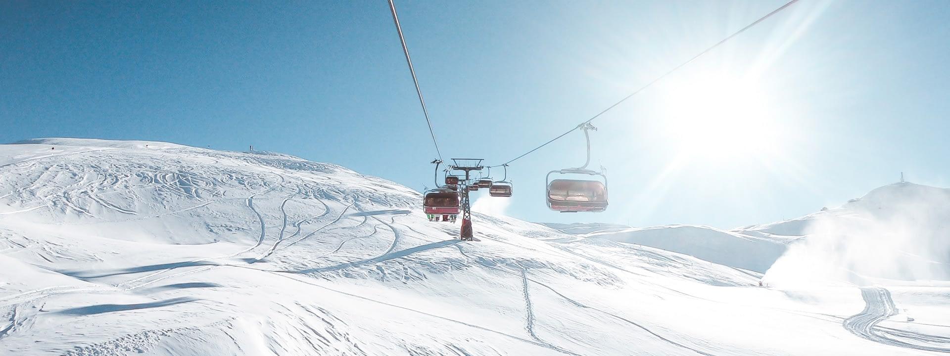 Panorama sulla ski area Mottolino a Livigno