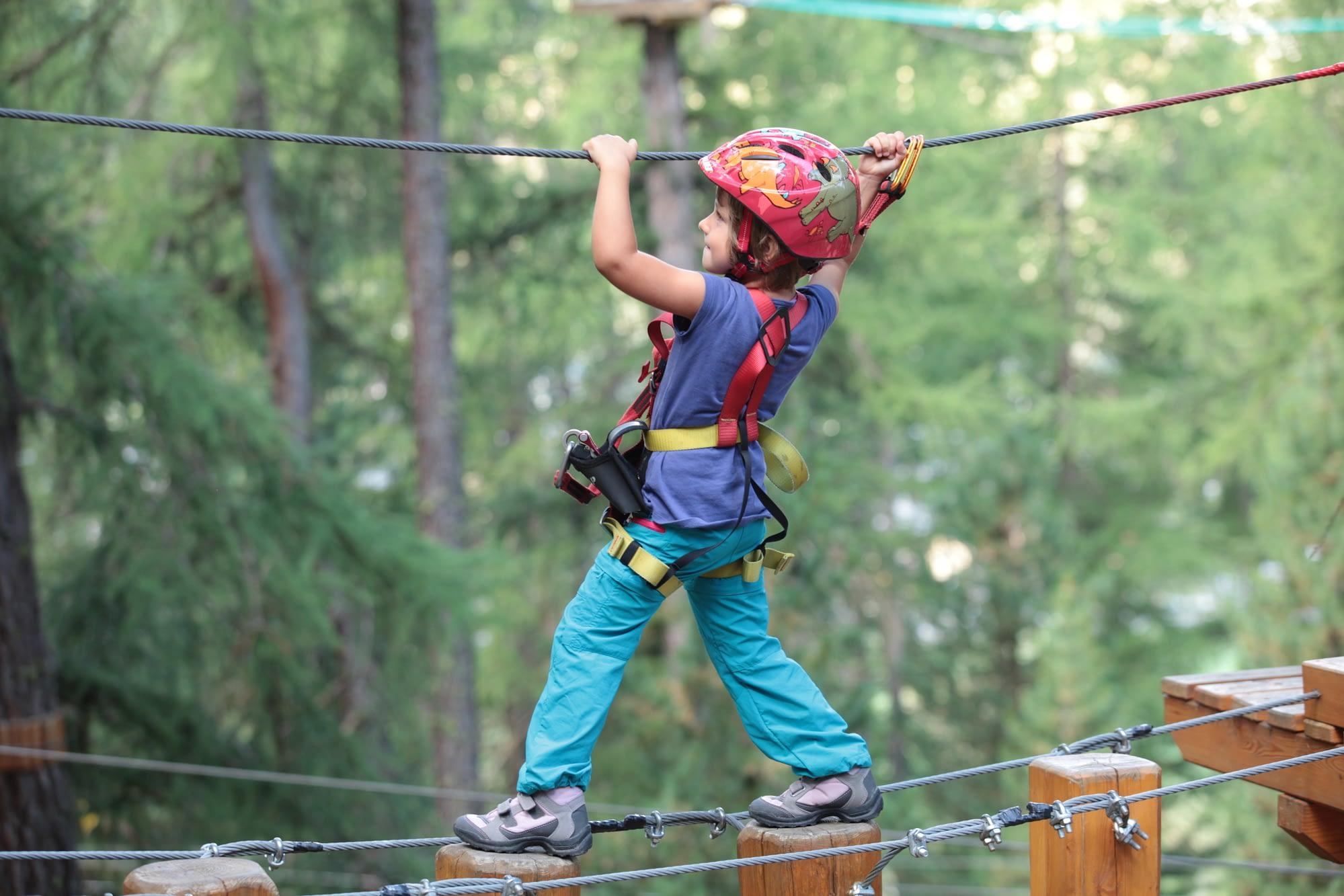 Bambini in azione al Larix Park