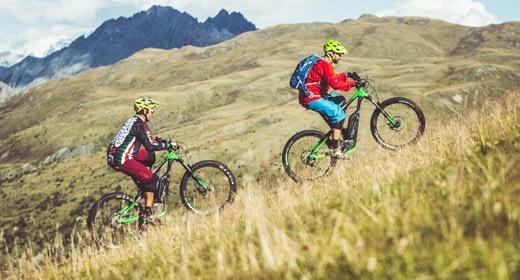 Noleggio E-Bike presso il noleggio Dr. Rent del Mottolino a Livigno