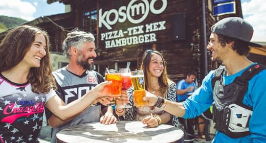 Après bike in estate al Kosmo di Mottolino a Livigno