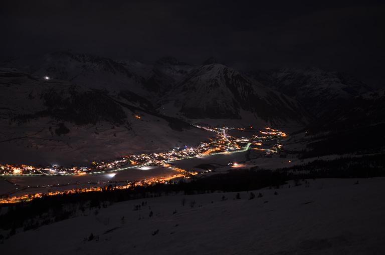 Livigno vista di notte