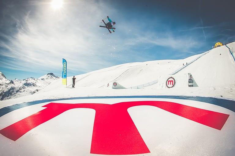 Elisa nakab durante FIS Freestyle Slopestyle