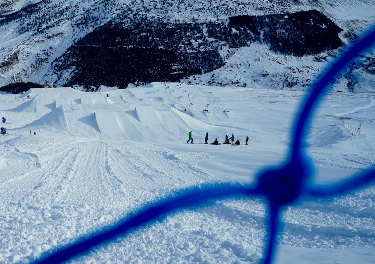 piste da neve innevate al Snowpark Mottolino