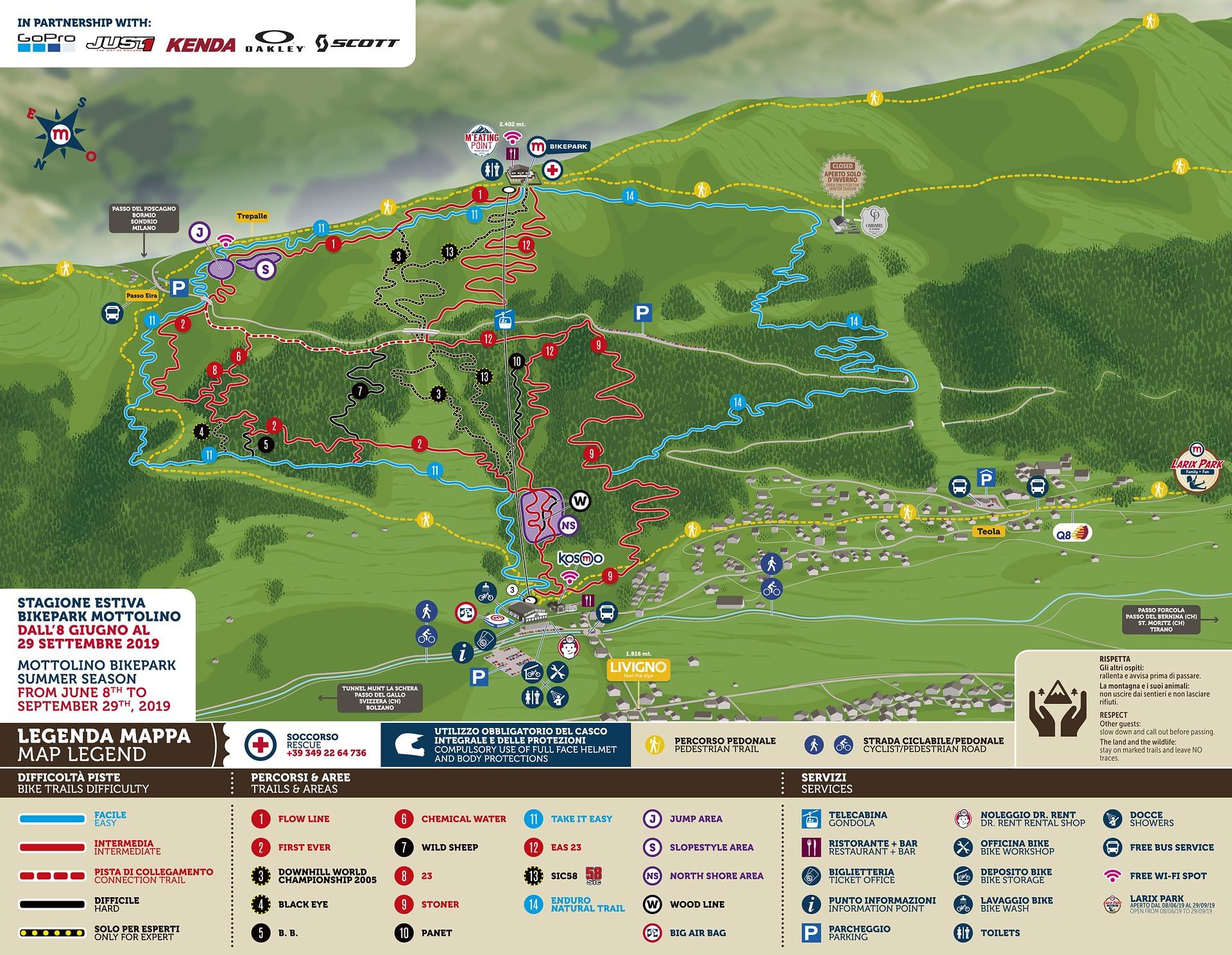 Bikepark Mottolino Livigno - Mottolino Fun Mountain