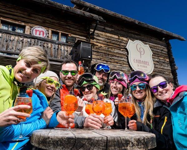 Festa organizzata con i gruppi al Camanel di Planon nella ski area Mottolino a Livigno