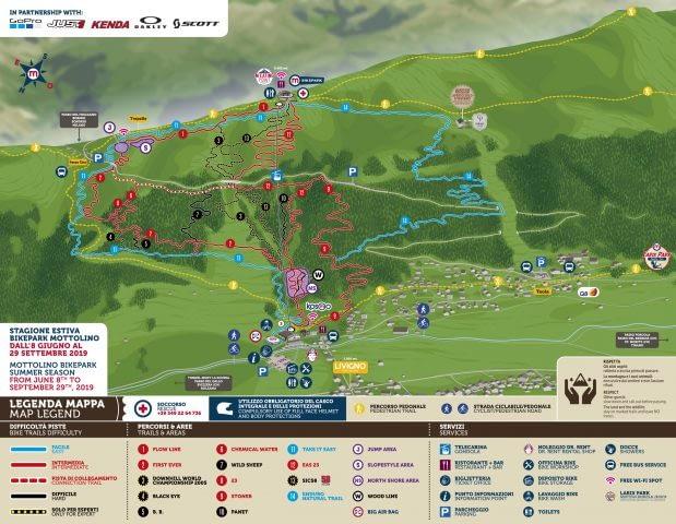 Mappa Bikepark Mottolino