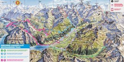 Mappa dei trails MTB a Livigno