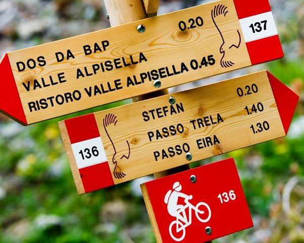 Segnaletica per Alpe Trela a Livigno